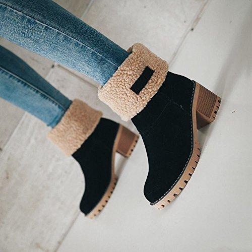 Misssasa Winter Boots Femme Casual Noir