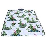 Y56(TM) | Kaktus-Muster | Wasserdicht Draussen Picknickdecke Campingdecke Falten Reise Campingplatz Strandmatte Picknickdecken