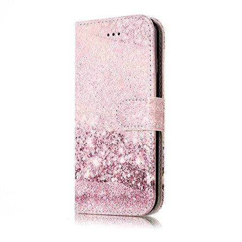 Wallet Case für iPhone 7, Sunroyal Marmor Design Brieftasche Hülle PU Lederhülle mit TPU Silicone Shell Bookstyle Standfunktion Kreditkartenfach Magnetverschluss Card Slot Etui für iPhone 7, 4.7 Zoll- Pattern 10