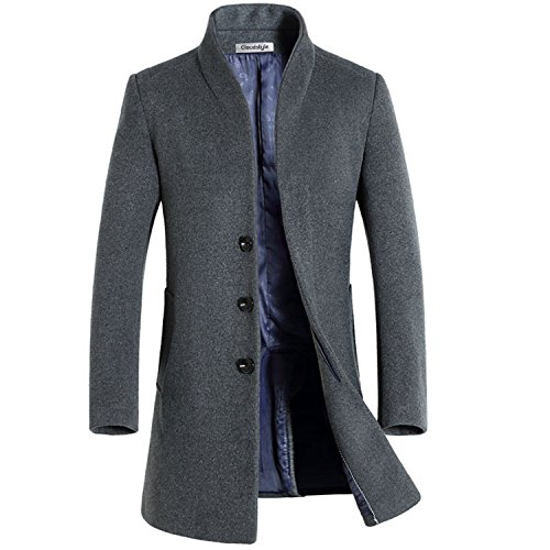 Slim Fit Herren stilvoller WollMantel Winter Business