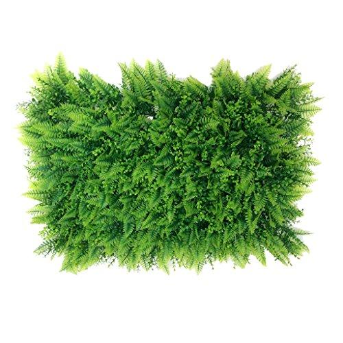 Non-brand Pianta Artificiale di 40 * 60cm Piante False del Parete del Giardino del Prato Dell'erba con L'erba del Foglio con Il Fiore - #1