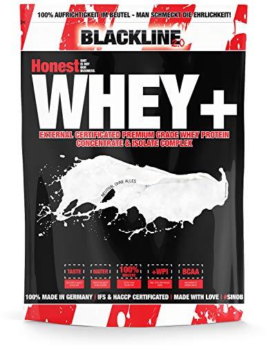sinob Honest Whey Protein - Pur/Ohne alles/Neutral - 1 x 1000 g. 12,5% Isolate Anteil. Instant lösliches Eiweißpulver mit BCAA & EAA 'Hergestellt in Deutschland' -