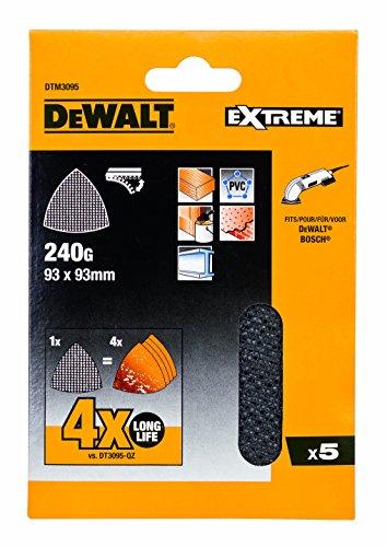 DeWALT DTM3095 Schleifgitter 93x93mm K240 5Stk, 6 Stück