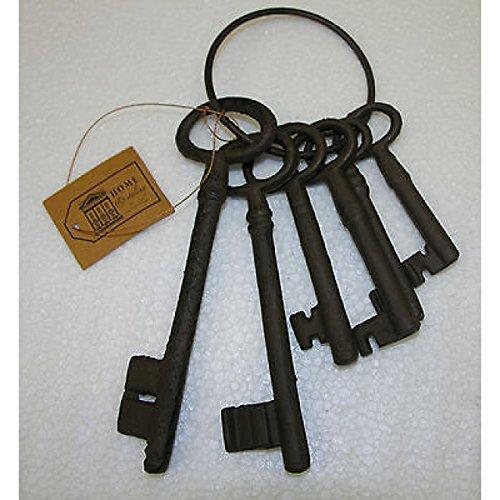 Schlüsselring mit 6 Deko Schlüssel