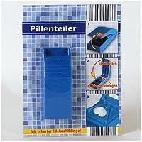 Pillenteiler Tablettenteiler Pillenzerteiler 8,5x3x2 cm, blau oder weiß preisvergleich bei billige-tabletten.eu