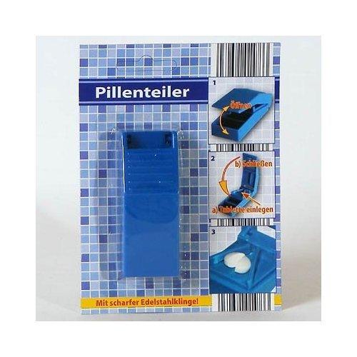 Pillenteiler Tablettenteiler Pillenzerteiler 8,5x3x2 cm, blau oder weiß