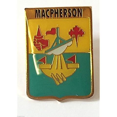 Famiglia della Scozia nome del Clan Macpherson Crested Lapel Pin Badge