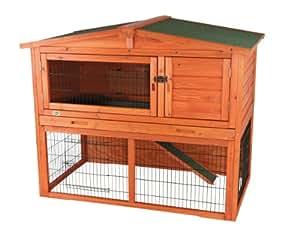 Trixie 62322 Natura Rabbit Hutch with Outdoor Enclosure 134 x 111 x 83 cm