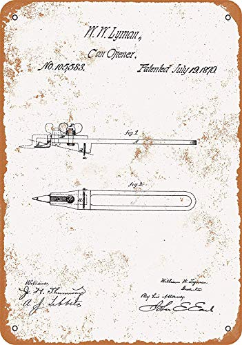 Toddrick 1870 Dosenöffner Patent-Blechschild Vintage Stil Retro Küche Bar Pub Coffee Shop Decor 20,3 x 30,5 cm