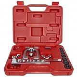 Doppel Bördelgerät 90° offene F + E bördeln geeignet für Kupferrohre ZOLL, 7-tlg.