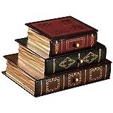 Messygo Libro Antico Gioielli a Forma di Scatola di Presentazione con 3 cassetti - Unica Forma Libro Gioielleria Caso Petto Bracciale di immagazzinaggio dell'organizzatore del Supporto - Home Decor