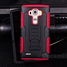 LG G4 Stylus / LG G4 Note Funda, Cocomii Robot Armor NEW [Heavy Duty] Premium Belt Clip Holster Kickstand Shockproof Hard Bumper Shell [Military Defender] Full Body Dual Layer Rugged Cover Case Carcasa LS770 H631 MS631 (Red)