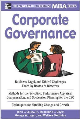 Corporate Governance (Executive MBA Series)