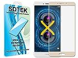 SDTEK Huawei Honor 6X (Or) Couverture complète Verre Trempé Protecteur d'écran Protection Résistant aux éraflures Glass Screen Protector Vitre Tempered