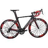 Costelo speedcraft completa bicicleta de carretera de carbono bicicleta bici completa para cuadro de bicicleta Groupset grupo de rueda bicicleta bicicleta Di2, tamaño Shimano6800 49-58cm