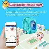 Uhren für Kinder,TURNMEON® intelligent uhr mit GPS WIFI Anti-lost Tracker Smart watch Handy mit SIM SOS Armband für Smartphone (Dark Blue) - 5