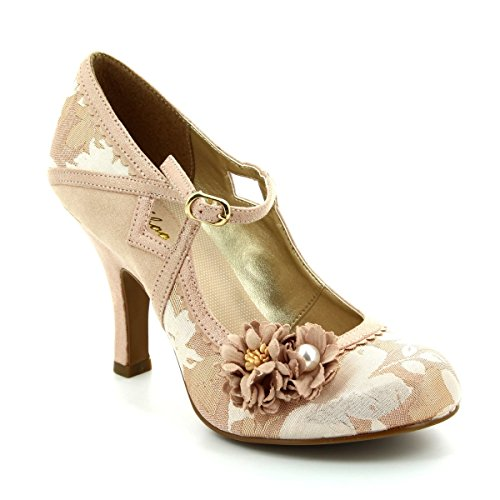 LADIES RUBY SHOO YASMIN ROSE GOLD 1940S 1950S VINTAGE RETRO WEDDING SHOES-UK 6 (EU (1950 Schuhe)