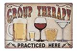 HiOni Group Therapy Practiced Here Vintage Blechschild Bier Poster Wandschild Wand Dekoration Metallschild Türschild