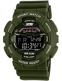 ufengke® klassische trendy wasserdicht Nachtlicht Quarz Armbanduhren für Mannfrauen, Multifunktions Tag und Datum Outdoor-Sportarten elektronische Armbanduhren, grün