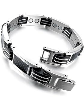 MunkiMix 3000g Magnet Kugel Perle Perlen Edelstahl Kohlenstoff Carbon Fiber Kohlefaser Gummi Kautschuk Armband...