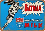 Sary buri 1966 Batman for All Star Milk en Métal Plaque Mur Art Peinture Décoration...