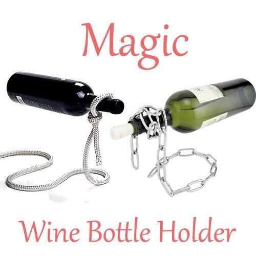 FamilyMall Magic Kette/Lasso Seil Weinflaschenhalter Floating Illusion Rack Ständer Art Gift