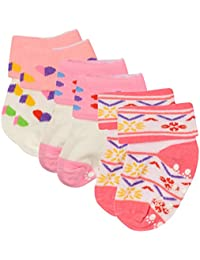 Golazo Baby Cotton Socks (Multi-Coloured, 3-6 Months, Pair of 3)
