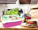 Brotdose mit Foto, Lunchbox mit eigenem Foto gestalten, Brotbüchse mit Bild bedrucken Rosa
