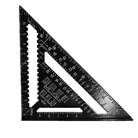 Tutoy 12Inch Aluminiumlegierung Geschwindigkeit Quadrat Rafter Dreieck Winkel Quadrat Layout Guide (Geschwindigkeit Winkel)
