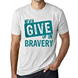Photo de Ultrabasic Homme T-Shirt Graphique Never Give Up on Bravery par Ultrabasic