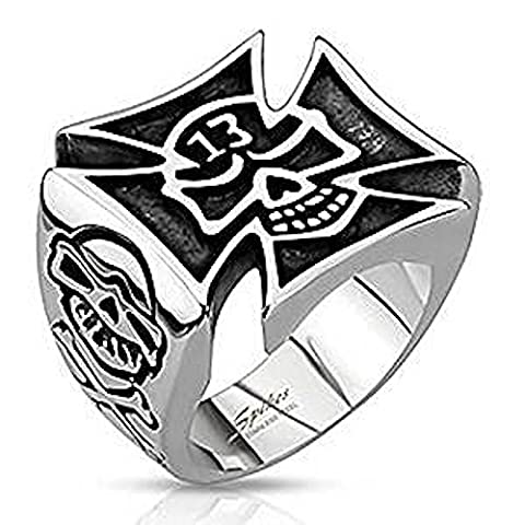 SIZE 14 ( Z+3 ) Lucky 13 Cut Out Celtic Cross 21.5mm Width Surgical Steel Wide Cast Ring
