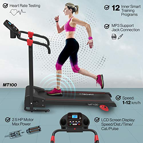 Zoom IMG-1 techfit mt100 tapis roulant elettrico