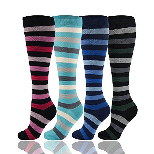 Abgestufte Kompression Socken für Damen & Herren 20-30 mmHg - Moderat Kompression Strümpfe für Laufen, Jogging, Crossfit, Reisen, Schwester, Mutterschaft, Schwangerschaft, Shin Splints