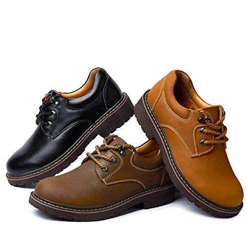 Miyoopark , Chaussures de ville à lacets pour homme marron foncé