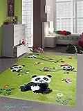 Kinderteppich Spielteppich Kinderzimmer Teppich niedliche Bunte Tiere mit Konturenschnitt Panda