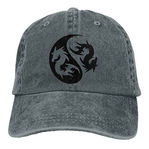 4ec64f194bcff Zhgrong Caps Dragon Yinyang Denim Hat Adjustable Men Plain Baseball cap cap