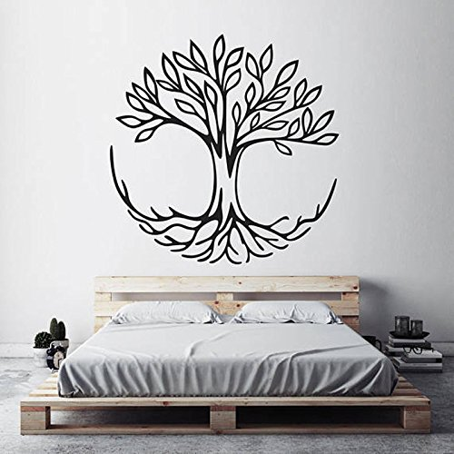 WWYJN Tree of Life Wall Decals Symbol of Connection Spiritual Yoga Home Decor Living Room Vinyl Wall Sticker Bedroom Decoration  57x57cm - Oneill-symbol