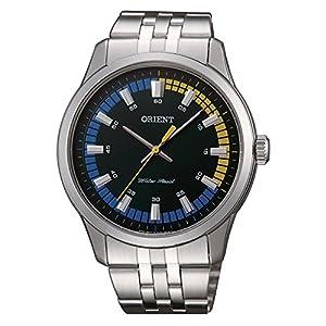 Orient Reloj Analógico para Hombre de Cuarzo con Correa en Acero Inoxidable SQC0U005F0