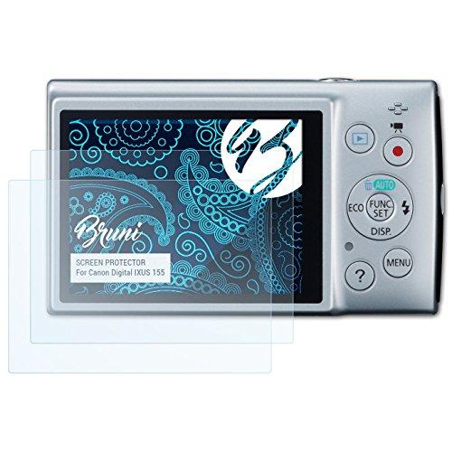 �r Canon Digital IXUS 155 / PowerShot ELPH 150 IS Folie - 2 x glasklare Displayschutzfolie (Canon Elph 150)