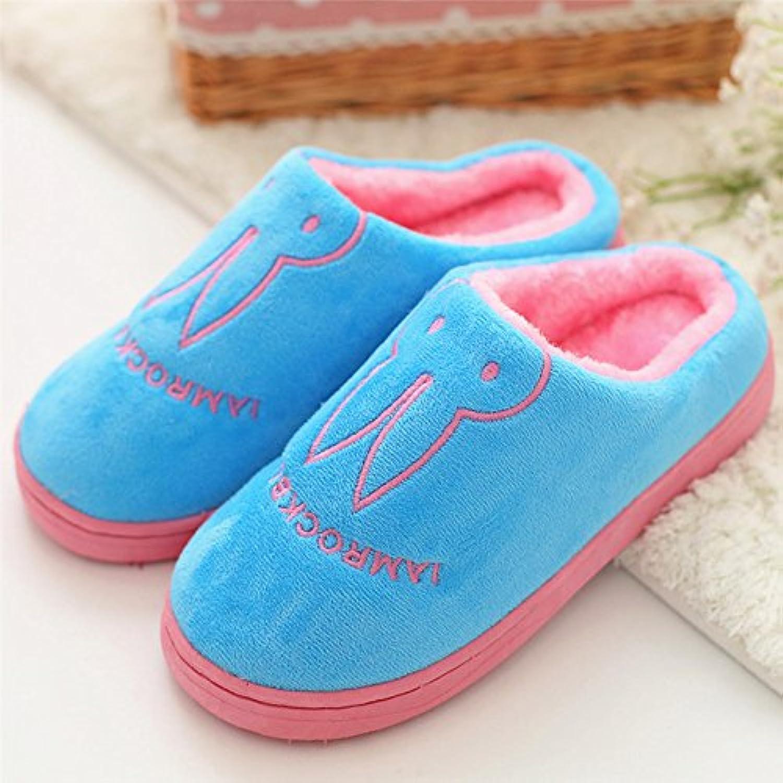 DogHaccd Zapatillas,Zapatillas de algodón de invierno femenina anti-deslizamiento interior cálida estancia casa...
