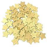 18 mm Gold-Sterne, aus Holz, Shabby Chic, Vintage-Stil, aus Holz, je Stern, holz, gold, 18 mm