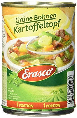 Erasco Grüne Bohnen-Kartoffeltopf, 3er Pack (3 x 400 g) -
