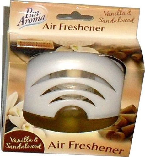 Pan Aroma Glass Air Freshener - Vanilla & Sandalwood - 75ml by Pan Aroma Air Pan