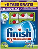Finish Quantum Apfel Limette Geschirrspültabs 40+8, 1er Pack (1 x 48 Stück)