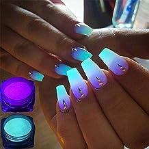 Semoic 12 cajas/juego Polvo de fosforo de neon Polvo de brillo de unas Pigmento
