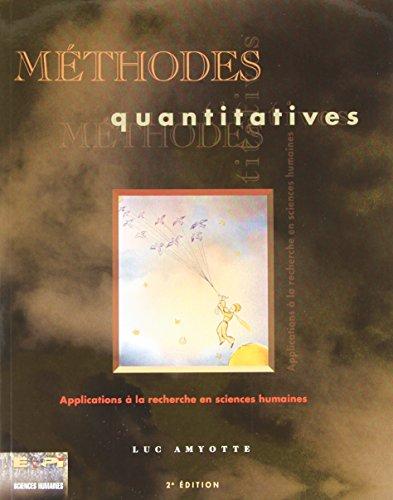 Méthodes quantitatives : Application à la recherche en sciences humaines
