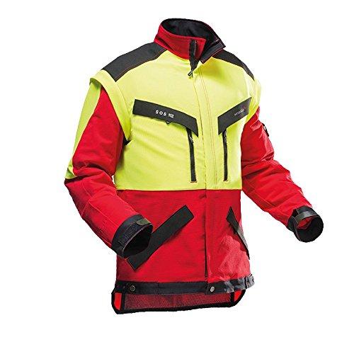Pfanner 804163-40/M Forstjacke KlimaAIR Größe M in rot/gelb / schwarz