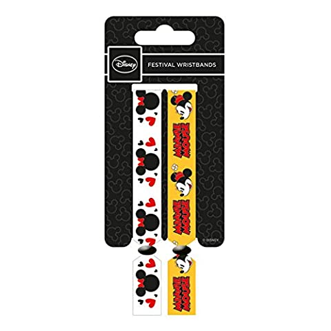 Disney Minnie Mouse Logo and Character Double Festival Wristband Set