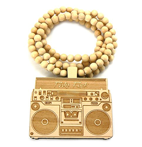 good-wood-party-rock-boom-box-pendant-ball-chain-necklace-natural-wx45nl