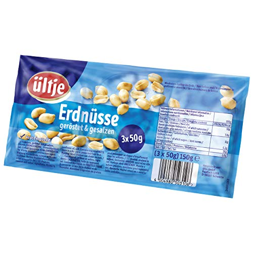 ültje Erdnüsse, geröstet und gesalzen, 10er Pack (10 x 150 g)